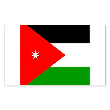 Jordanian Rectangle Sticker