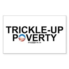 Trickle-Up Poverty Rectangle Decal