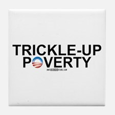 Trickle-Up Poverty Tile Coaster