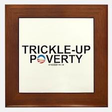 Trickle-Up Poverty Framed Tile