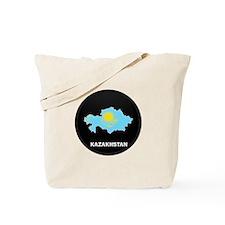 Flag Map of Kazakhstan Tote Bag