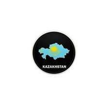Flag Map of Kazakhstan Mini Button (10 pack)