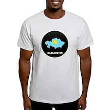 Flag Map of Kazakhstan T-Shirt