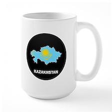 Flag Map of Kazakhstan Mug