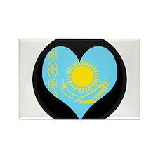 I love Kazakhstan Flag Rectangle Magnet