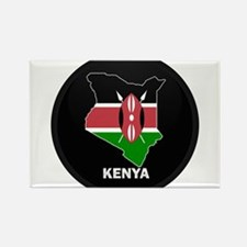 Flag Map of kenya Rectangle Magnet