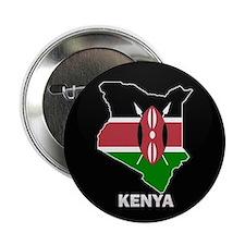 "Flag Map of kenya 2.25"" Button (10 pack)"