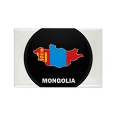 Flag Map of mongolia Rectangle Magnet