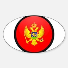 montenegro Oval Decal