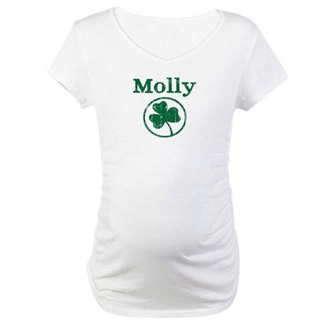 Molly shamrock Maternity T-Shirt