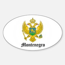 Montenegrin Coat of Arms Seal Oval Decal