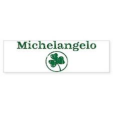 Michelangelo shamrock Bumper Car Sticker
