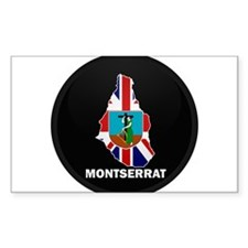 Flag Map of Montserrat Rectangle Decal