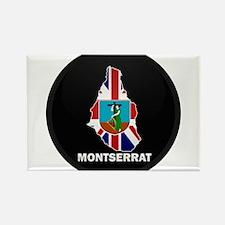 Flag Map of Montserrat Rectangle Magnet
