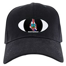 Flag Map of Montserrat Baseball Hat