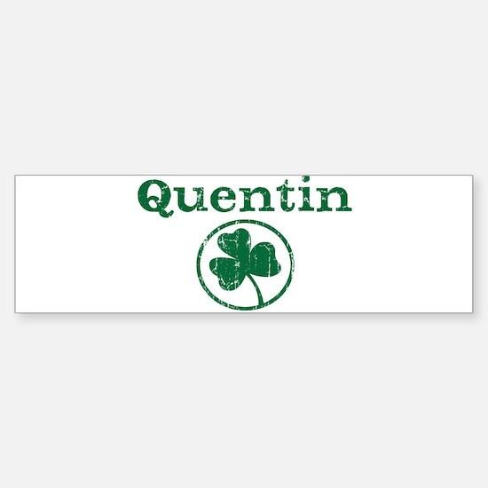 Quentin shamrock Bumper Car Car Sticker
