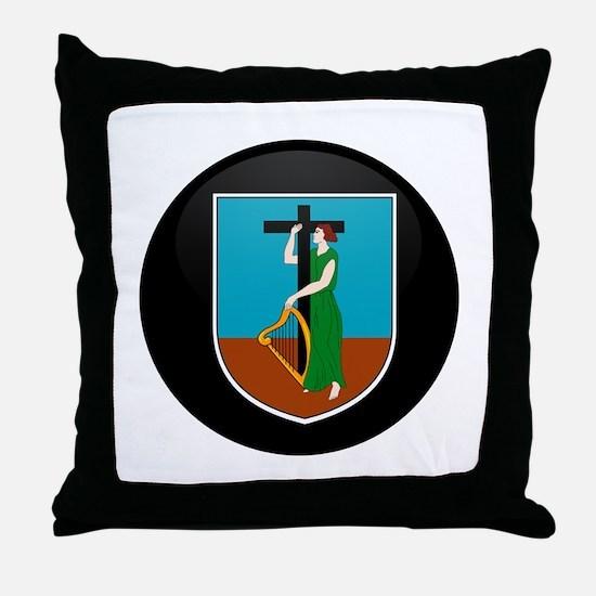 Coat of Arms of Montserrat Throw Pillow