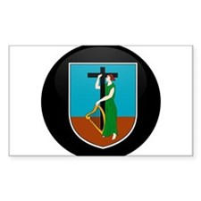 Coat of Arms of Montserrat Rectangle Decal