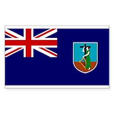 Montserrat Flag Rectangle Decal