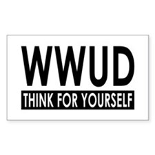 WWUD - Think For Yourself Rectangle Stickers