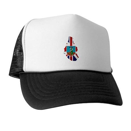 Montserrat Flag Map Trucker Hat