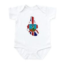 Montserrat Flag Map Infant Bodysuit
