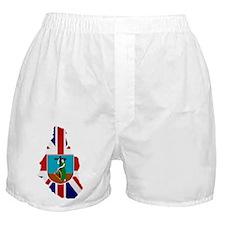 Montserrat Flag Map Boxer Shorts