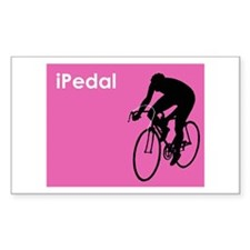 iPedal Pink iPod Spoof Rectangle Decal
