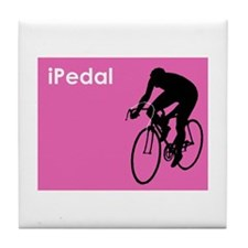 iPedal Pink iPod Spoof Tile Coaster