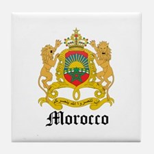 Moroccan Coat of Arms Seal Tile Coaster