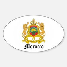 Moroccan Coat of Arms Seal Oval Decal