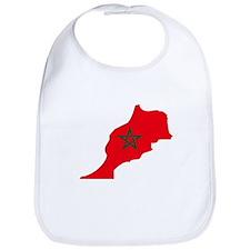 Morocco Flag Map Bib