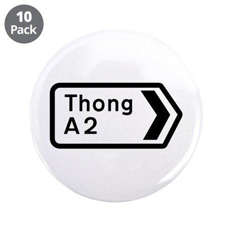 "Thong, UK 3.5"" Button (10 pack)"