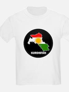 Flag Map of Kurdistan T-Shirt