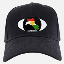 Flag Map of Kurdistan Baseball Hat