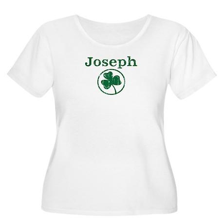 Joseph shamrock Women's Plus Size Scoop Neck T-Shi