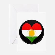 I love Kurdistan Flag Greeting Card