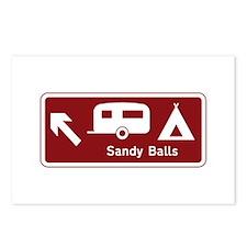 Sandy Balls, UK Postcards (Package of 8)