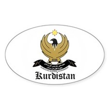 kurd Coat of Arms Seal Oval Decal