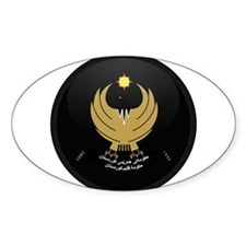 Coat of Arms of Kurdistan Oval Decal