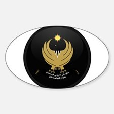 Coat of Arms of Kurdistan Oval Decal