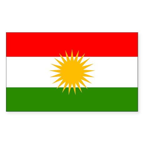 Kurdistan Flag Rectangle Sticker