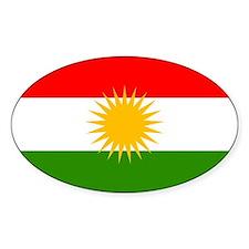 Kurdistan Flag Oval Decal