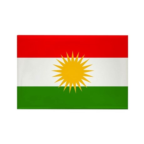 Kurdistan Flag Rectangle Magnet