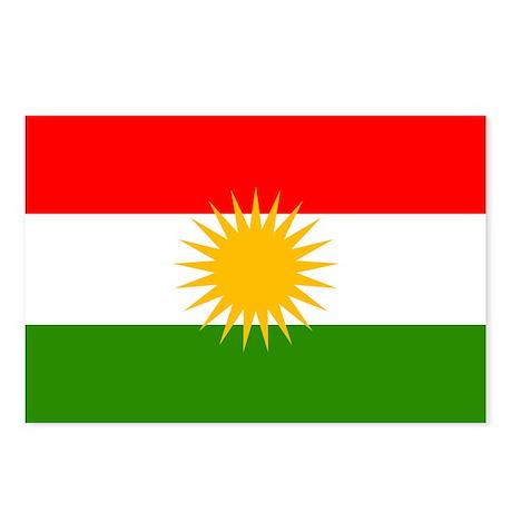 Kurdistan Flag Postcards (Package of 8)