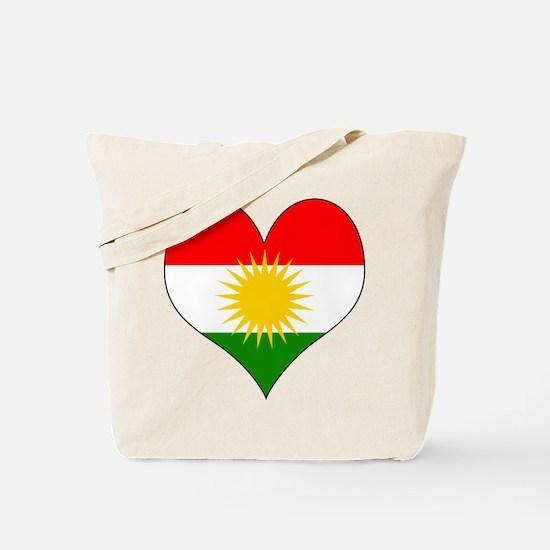 I Love Kurdistan Tote Bag