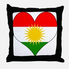 I Love Kurdistan Throw Pillow