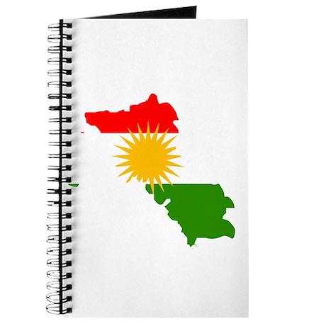 Kurdistan Flag Map Journal