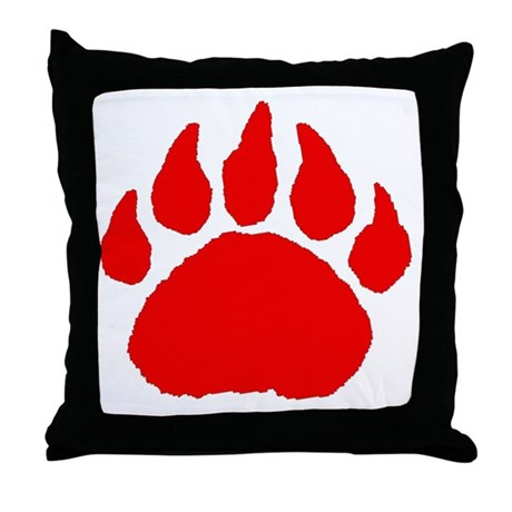 Woof Bear Paw Claw *NEW* Throw Pillow