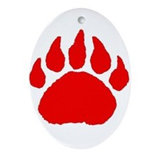 Bear Paw Oval Ornament